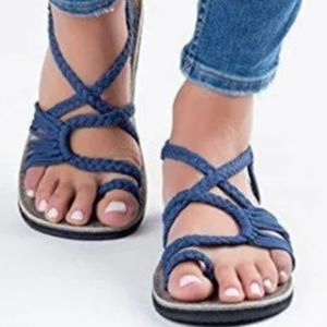 Puaka royal blue strappy sandals